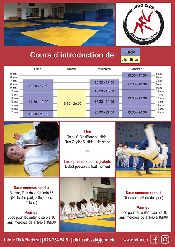 Cours d'introduction Judo & Ju-Jitsu